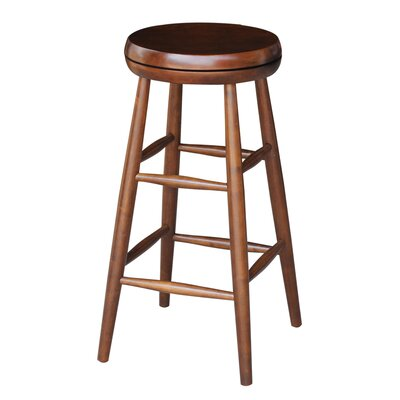 Dehn Tall Swivel Stool Seat Color: Espresso