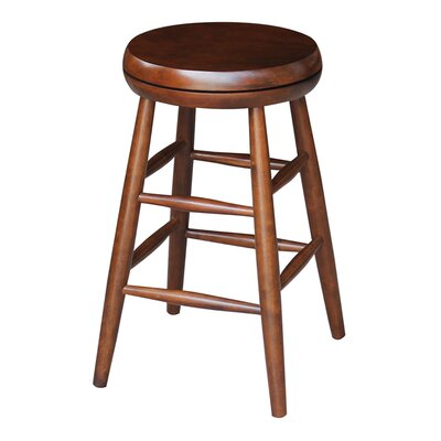 Dehn Medium Swivel Stool Seat Color: Espresso