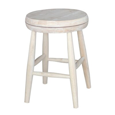 Dehn Short Swivel Stool Seat Color: White