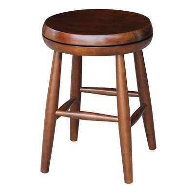 Dehn Short Swivel Stool Seat Color: Espresso