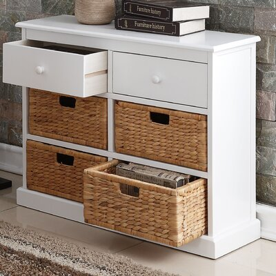 Dekker 4-Basket Storage Chest Finish: White