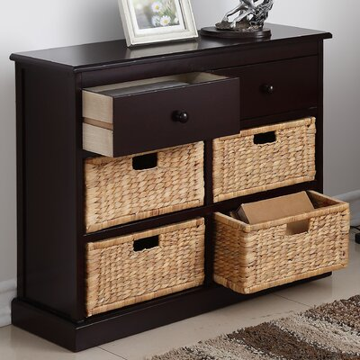 Dekker 4-Basket Storage Chest Finish: Espresso