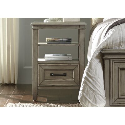Dennell Nightstand with Shelves