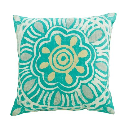 Mallory Polyester Throw Pillow Color: Teal