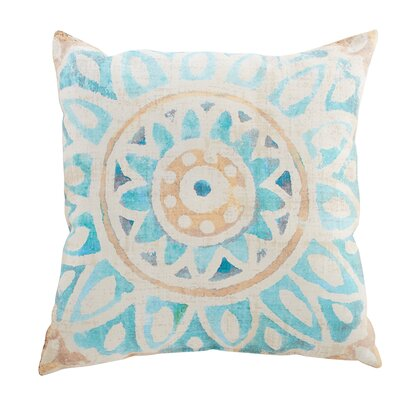 Mallory Polyester Throw Pillow Color: Sky