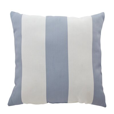 Outdoor Pillow Vertical Stripe Size: 18 H x 18 W x 4 D, Color: Light Gray/Ivory