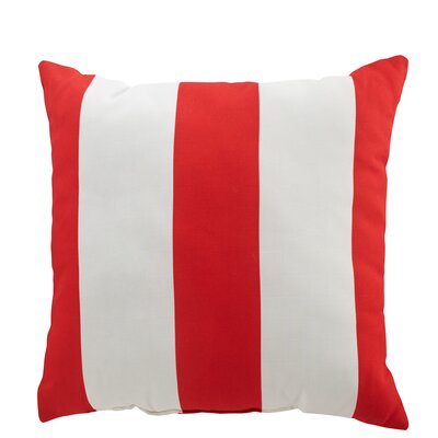 Moira Polyester Throw Pillow Color: Red