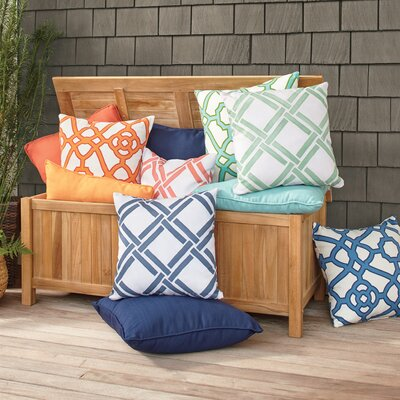 Gia Outdoor Pillow Color: Blue, Size: 20