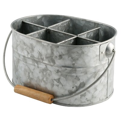 Thoby Galvanized Utensil Caddy