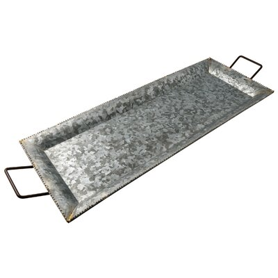Bayard Galvanized Iron Tray Size: Medium