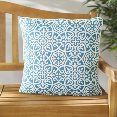 Renee Outdoor Sunbrella® Pillow Color: Teal