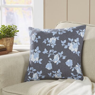 Floral Seabury Chambray Pillow Cover