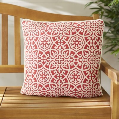 Renee Outdoor Sunbrella Pillow Color: Red