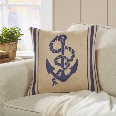 Anchor Seafarer Pillow Cover