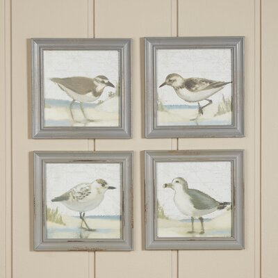 Sea Bird Framed Prints (Set of 4)