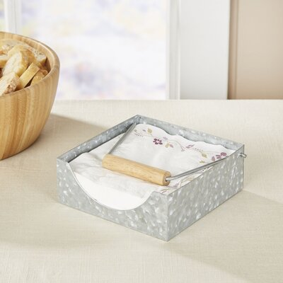 Thoby Galvanized Napkin Caddy