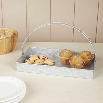 Thoby Galvanized Tray with Handle