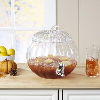 Glass Pumpkin Beverage Dispenser