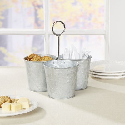 Thoby Galvanized Snack Caddy