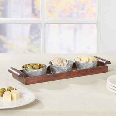 Besson 4-Piece Rosewood and Iron Server Set