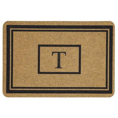 Monogram Doormat Letter: T