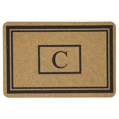Monogram Doormat Letter: C