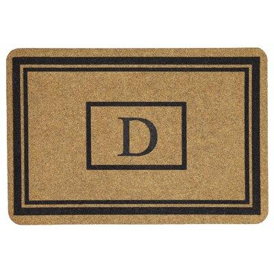 Monogram Doormat Letter: D