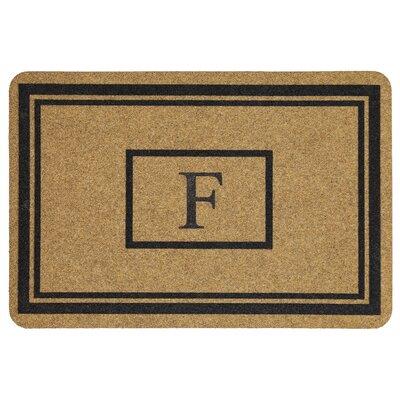 Monogram Doormat Letter: F