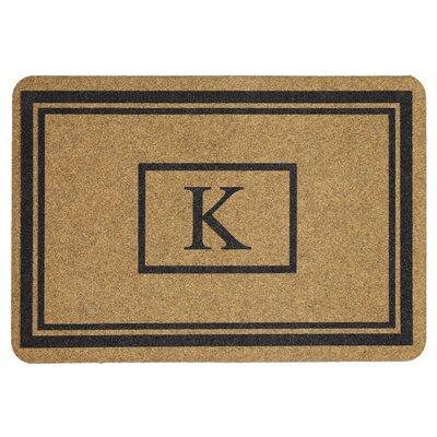Monogram Doormat Letter: K