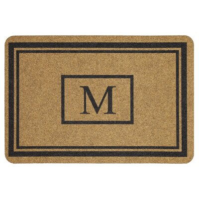 Monogram Doormat Letter: M