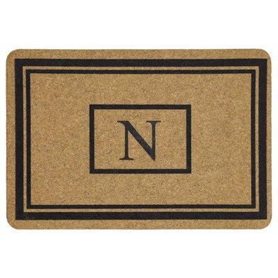 Monogram Doormat Letter: N