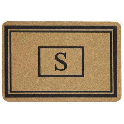 Monogram Doormat Letter: S