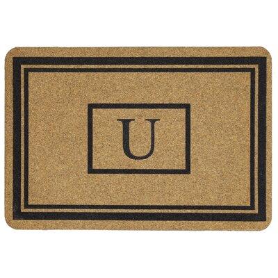 Monogram Doormat Letter: U