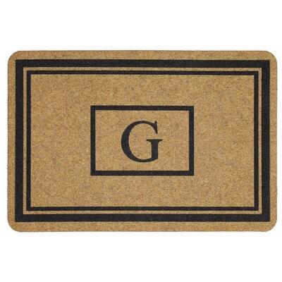 Monogram Doormat Letter: G