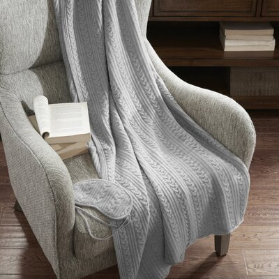 3 Piece Travel Throw Blanket Set Color: Gray