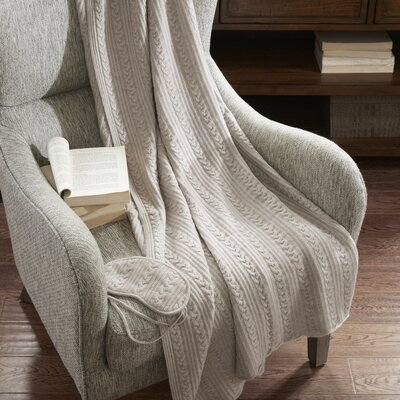 3 Piece Travel Throw Blanket Set Color: Oatmeal
