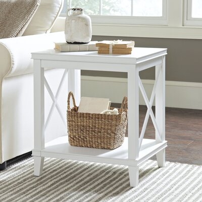 Larksmill Side Table Color: White