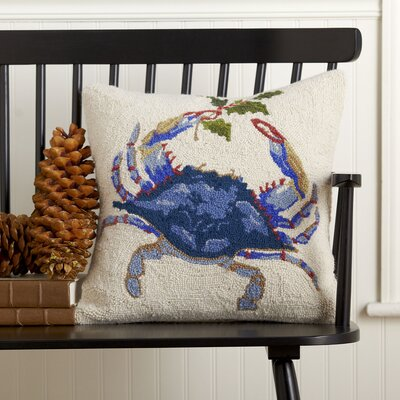 Mistletoe Blue Crab Hooked Pillow