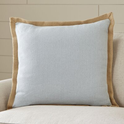 Shayna Jute Trim Pillow Cover Color: Light Gray