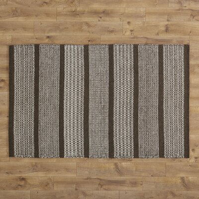 Willard Hand-Woven Chocolate Area Rug Rug Size: 36 x 56