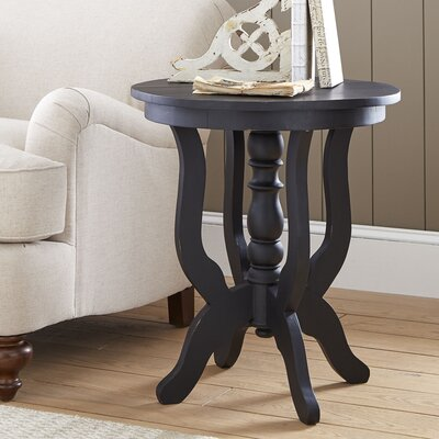 Merrick Pedestal Table Color: Black