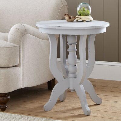 Merrick Pedestal Table Color: Gray