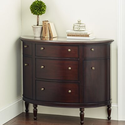 Cantor Demilune Accent Chest Finish: Mahogany