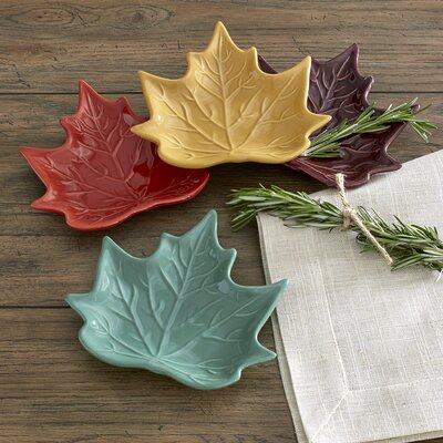 Maple Leaf Salad Plates