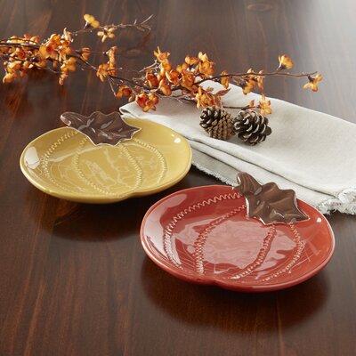 Autumn Pumpkin Salad Plates