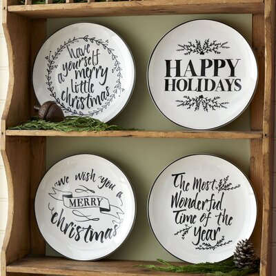 Holiday Wishes Plates