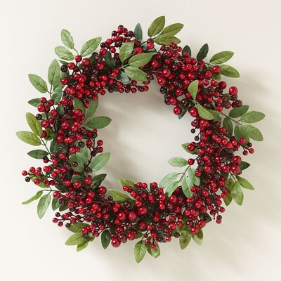 Festive Faux Berry Wreath