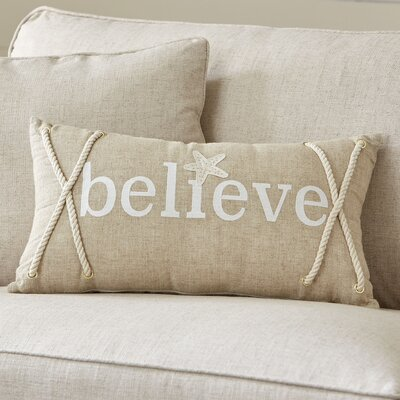 Believe Coastal Pillow Cover