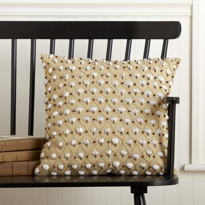 Embellished Cockle Shell Pillow Cover Color: Marzipan