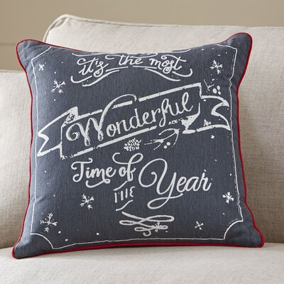 Wonderful Time Greetings Pillow Cover